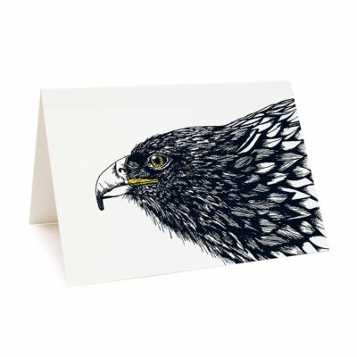 Golden eagle greetings card by Cherith Harrison