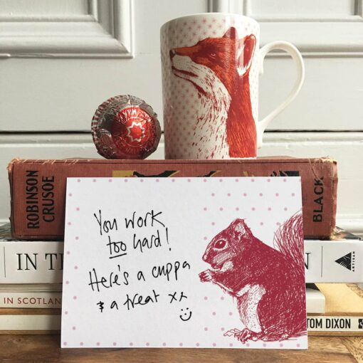 Red Squirrel Note Cards by Cherith Harrison