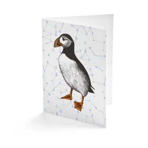 puffin card by Cherith Harrison