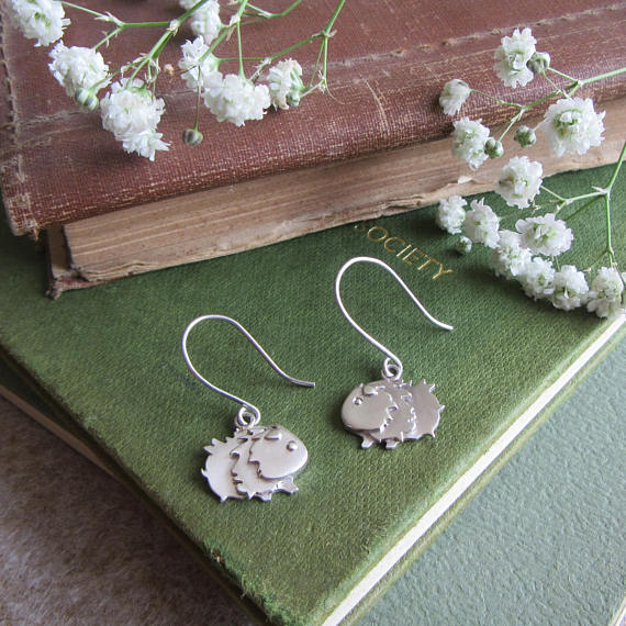 Sterling Silver Guinea Pig Earrings by Everything Guineapig