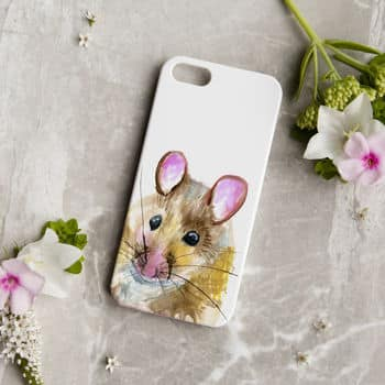 Inky Mouse Phone Case by KATE MOBY