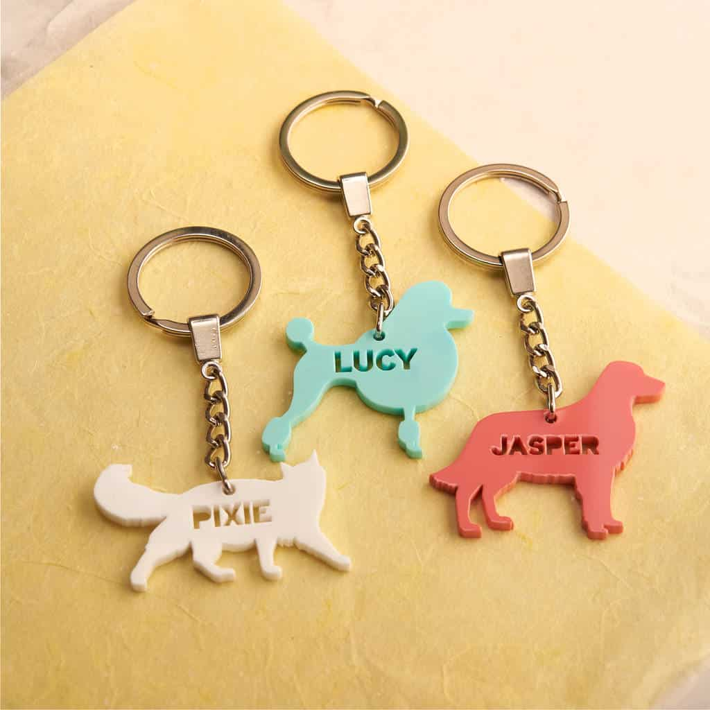 Personalised Acrylic Pet Keyring by OAKDENE DESIGNS