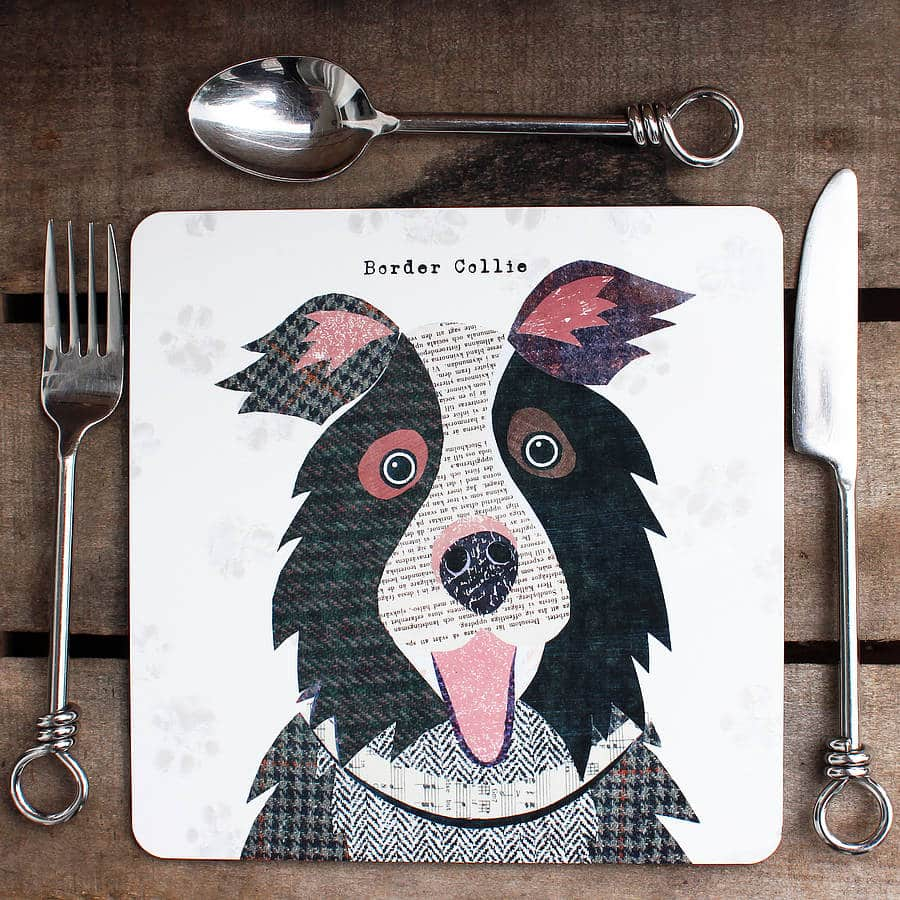 Collie Personalised Dog Placemat by SIMON HART
