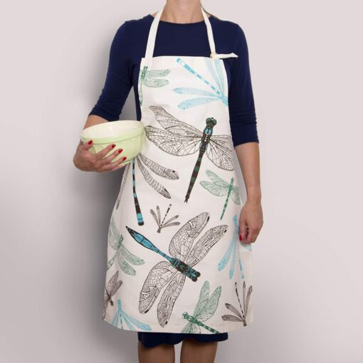 Animal apron with dragonfly design by Cherith Harrison