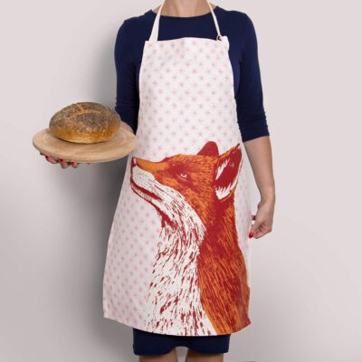 Animal Apron in fox and star design by Cherith Harrison