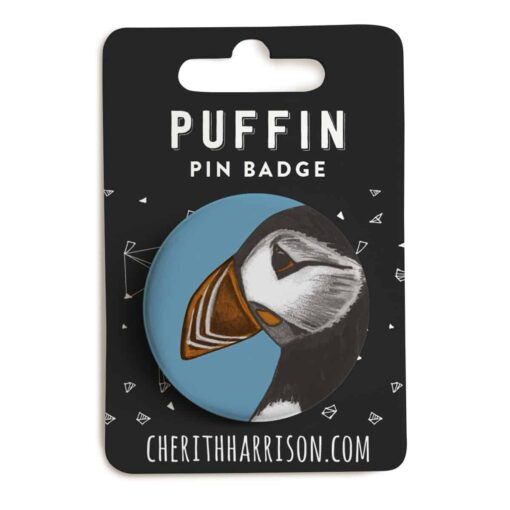 Puffin Pin Badge by Cherith Harrison