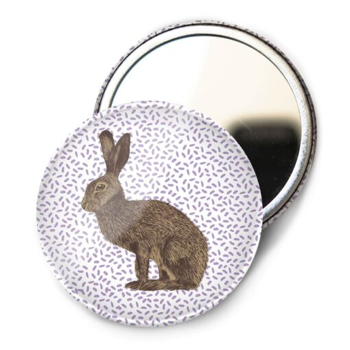 Hare Pocket Mirror by Cherith Harrison