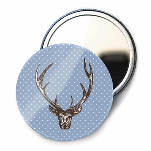 Stag Pocket Mirror by Cherith Harrison
