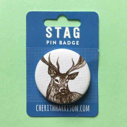 Stag Pin Badge by Cherith Harrison