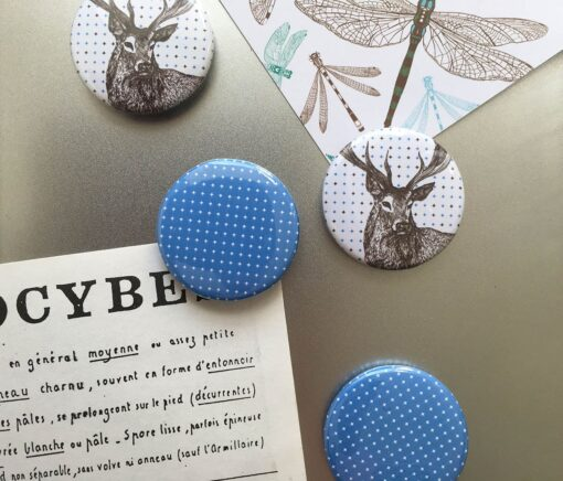animal magnets with stag design by Cherith Harrison