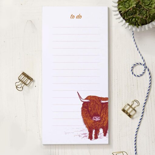 Highland Cow To Do List by Cherith Harrison