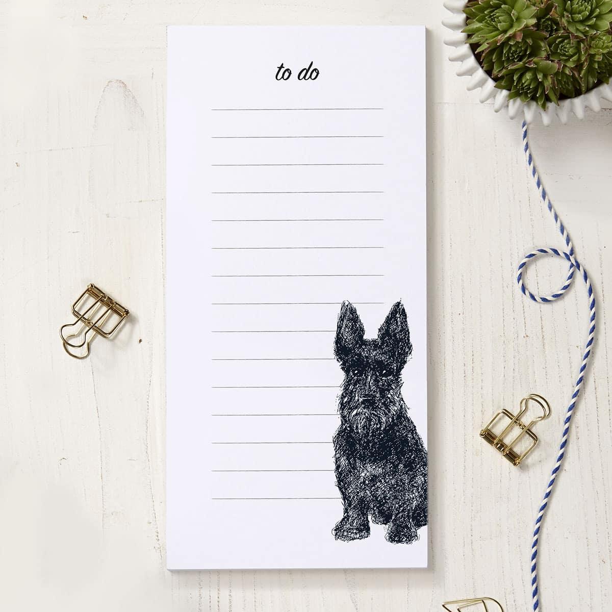 to do list Scotty dog notepad