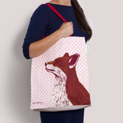 Fancy Fox Tote Bag by Cherith Harrison.