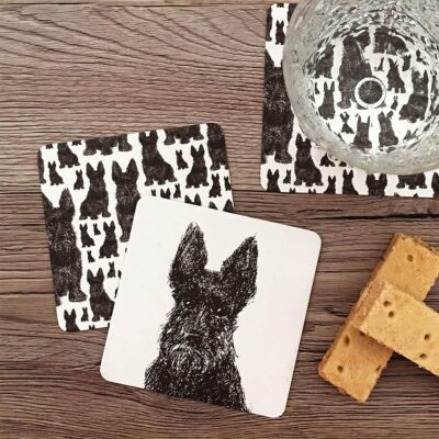 Loyal Scottie Dog Coasters by Cherith Harrison