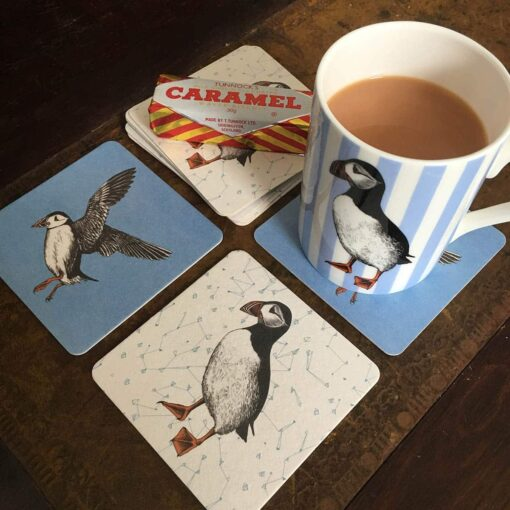 Puffin Coasters by Cherith Harrison