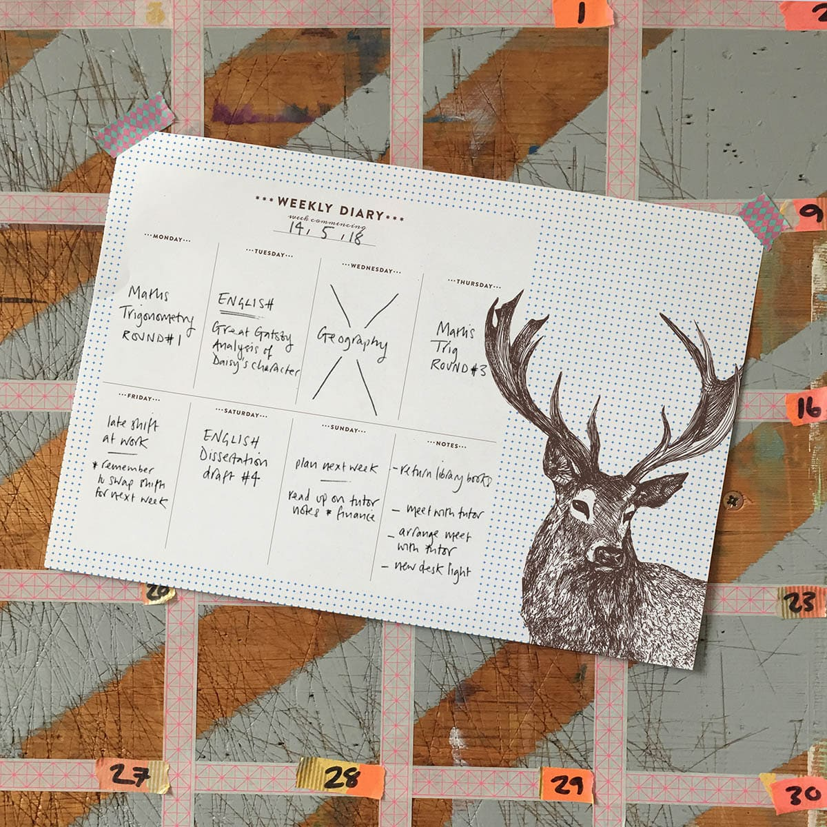 weekly study planner by Cherith Harrison