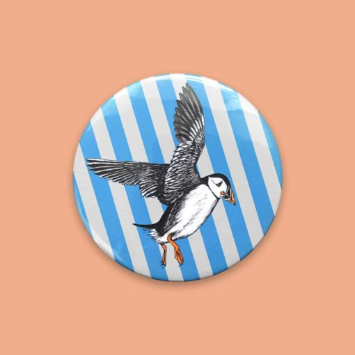Puffin Pocket Mirror by Cherith Harrison