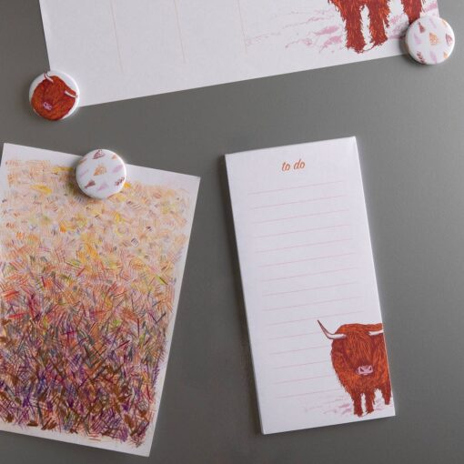Magnetic to do list pad by Cherith Harrison