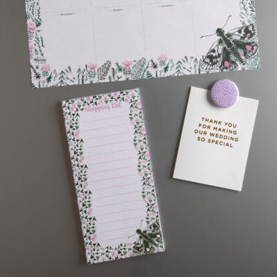 butterfly magnetic shopping list y Cherith Harrison