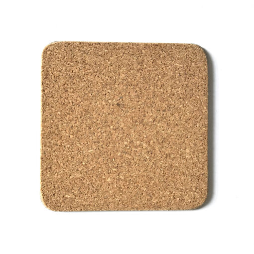 Melamine coaster with cork base