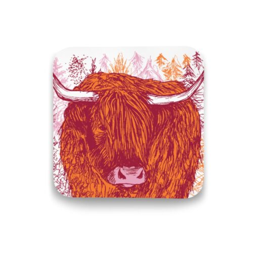 Highland Cow Coaster by Cherith Harrison