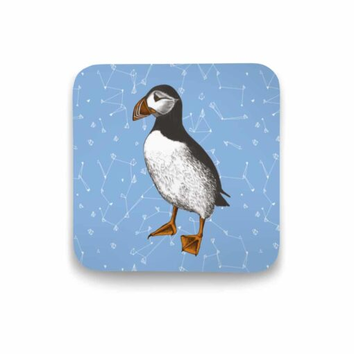 Atlantic puffin coaster by Cherith Harrison