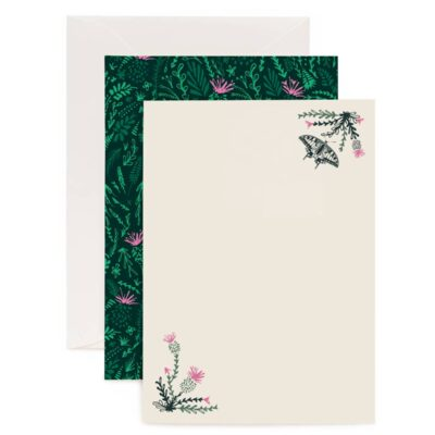 Thistles and Butterflies Writing Set by Cherith Harrison