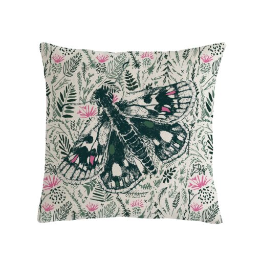 thistle and butterfly cushion by Cherith Harrison