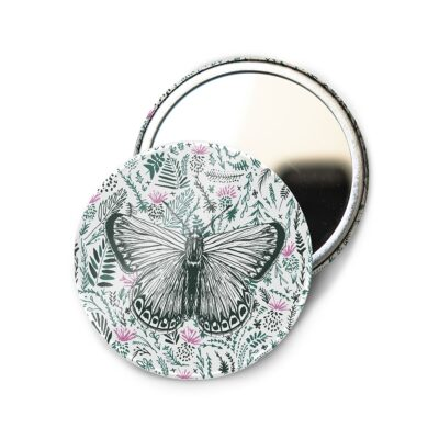 Butterfly Pocket Mirror by Cherith Harrison