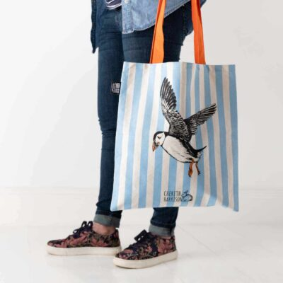 Puffin tote bag by Cherith Harrison