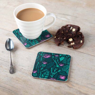 Scottish Thistles Coaster by Cherith Harrison.
