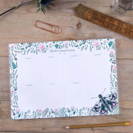 thistle and butterfly weekly planner by Cherith Harrison