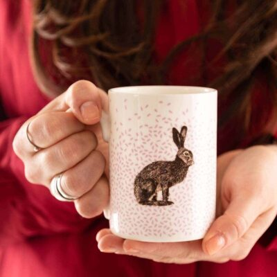 brown hare mug by Cherith Harrison