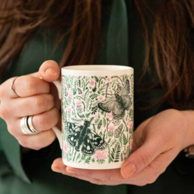 Thistles and Butterflies Mug by Cherith Harrison