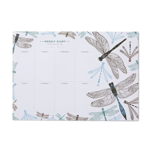 Dragonfly Weekly Planner with 50 pages by Cherith Harrison