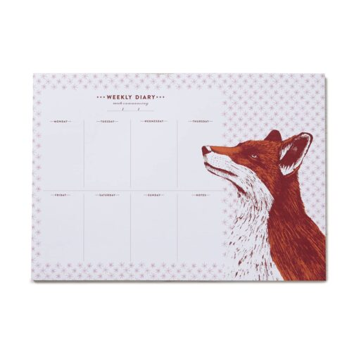Fox Weekly Planner with 50 pages by Cherith Harrison