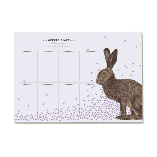 Brown hare Weekly Planner with 50 pages by Cherith Harrison