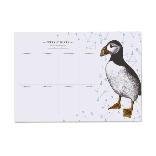 Puffin Weekly Planner with 50 pages