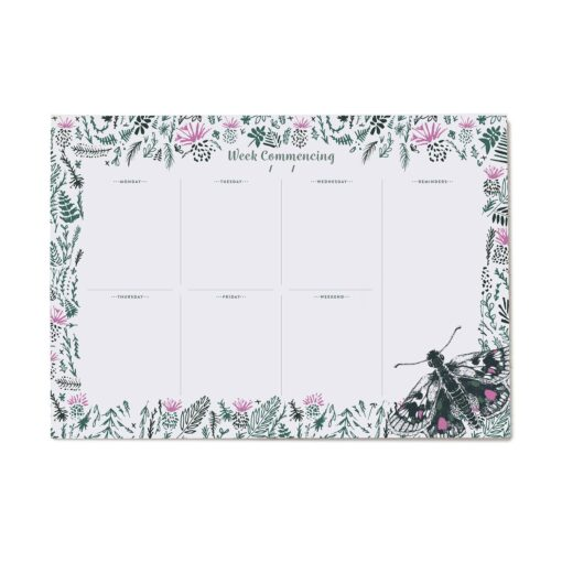 Butterfly Weekly Planner with 50 pages