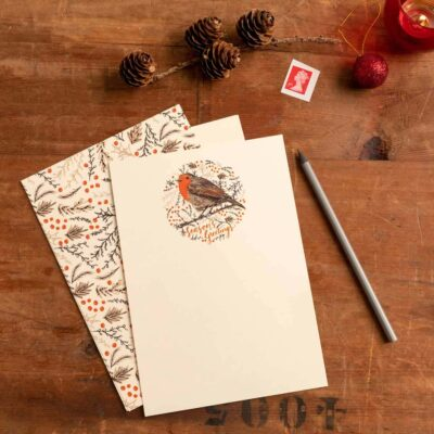 Christmas Robin Thank You Letters by Cherith Harrison