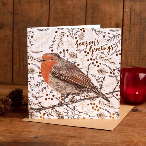 Christmas Robin Card by Cherith Harrison