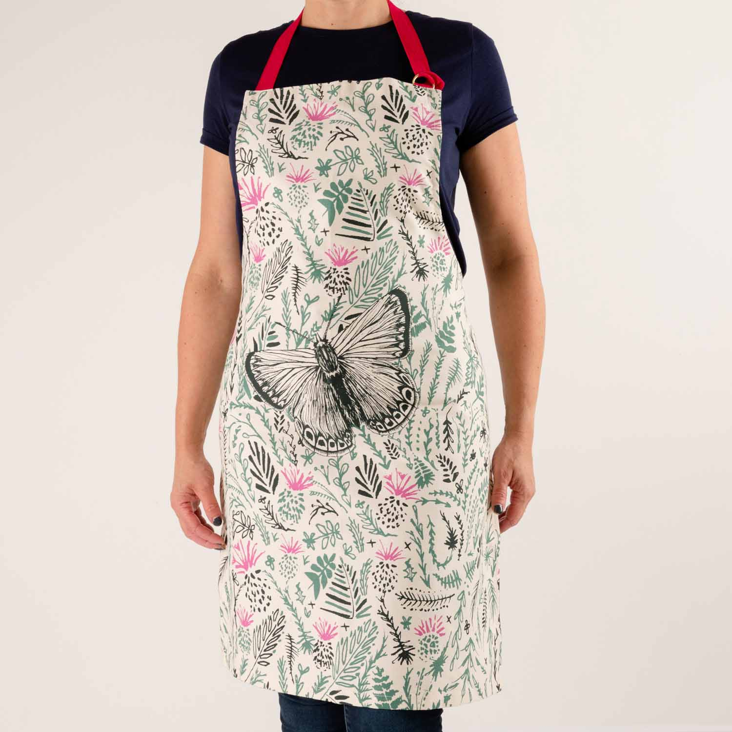 Thistles and Butterflies Apron by Cherith Harrison