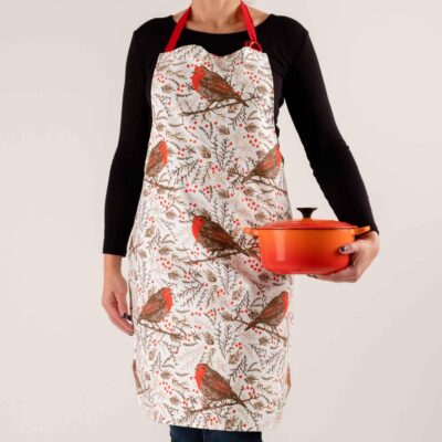 Christmas robin apron by Cherith Harrison