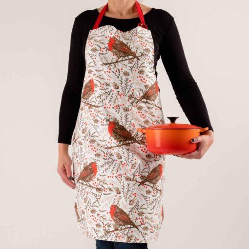 Christmas robin apron by Cherith Harrison