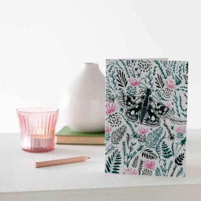 Thistles and butterfly card by Cherith Harrison