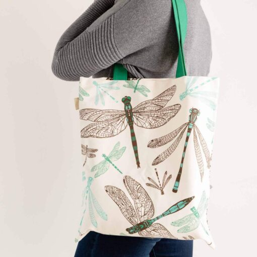 Dragonfly tote bag by Cherith Harrison