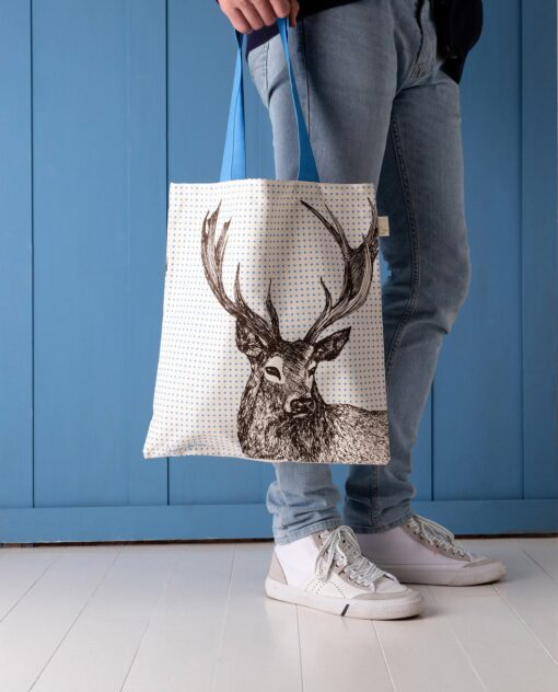 Stag Tote Bag by Cherith Harrison