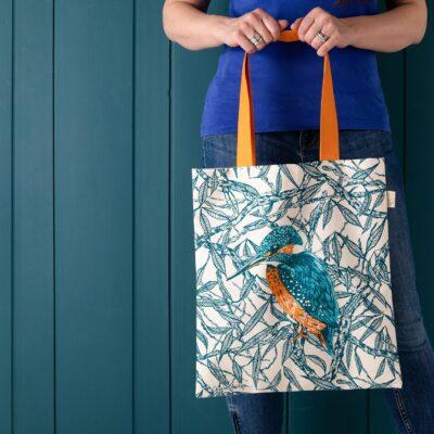 Kingfishers Tote Bag by Cherith Harrison