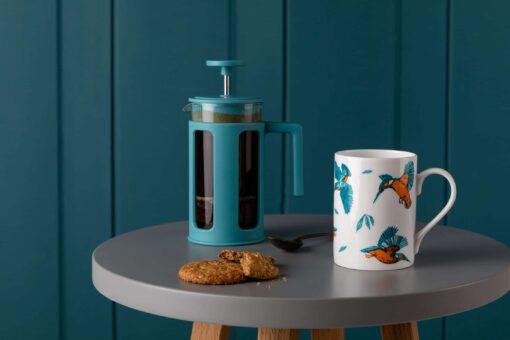 Flying kingfisher Mug by Cherith Harrison