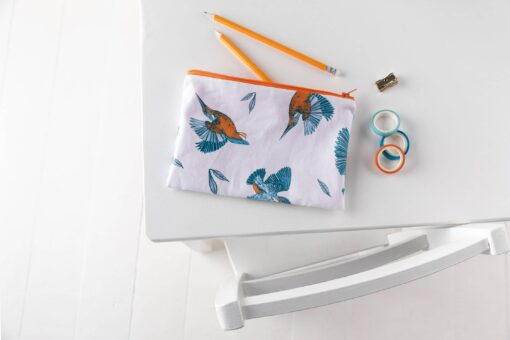 Kingfisher Pencil Case by Cherith Harrison
